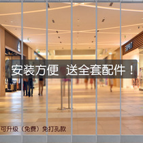 Guangdong sales of more than 100 new products on the shelf 62 days hotel clothing store door supermarket shopping mall magnetic self-absorbing transparent pvc soft